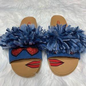New Ugg Blue Mop Sandals